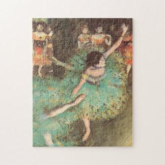 The Green Dancer by Edgar Degas, Vintage Ballet Jigsaw Puzzle