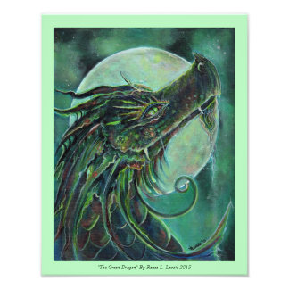 The Green Dragon Photo print by Renee Lavoie