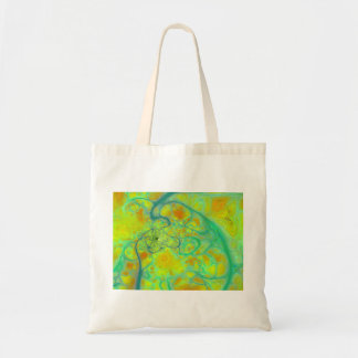 The Green Earth – Teal & Gold Tides Budget Tote Bag