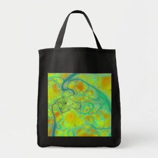 The Green Earth – Teal & Gold Tides Tote Bag