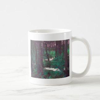 The Green Fairy Woods Basic White Mug