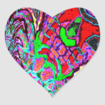 The Green Flapper Heart Stickers