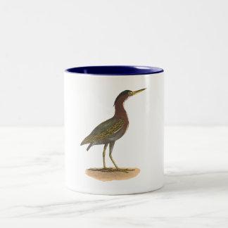 The Green Heron, or Poke (Ardea virescens) Two-Tone Coffee Mug