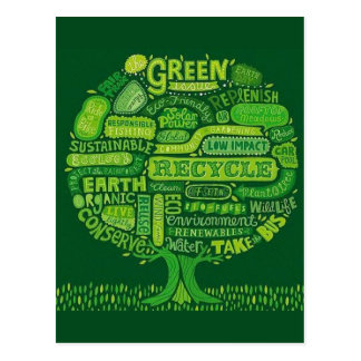 The Green Issue - Earth Day Tree Postcard