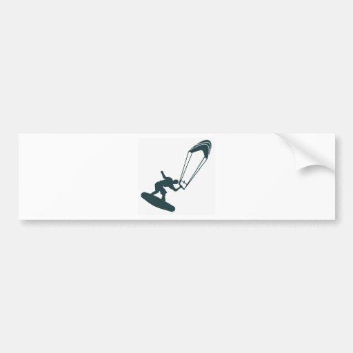 The Green Kiteboard Car Bumper Sticker