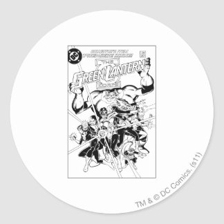 The Green Lantern Corps, Black and White Classic Round Sticker