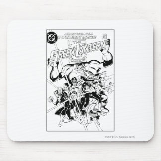 The Green Lantern Corps Black and White Mouse Pads