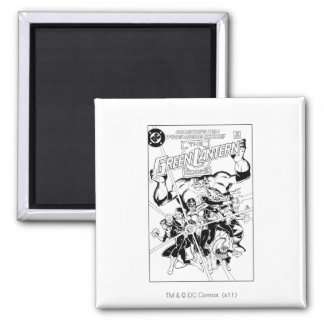 The Green Lantern Corps, Black and White Square Magnet