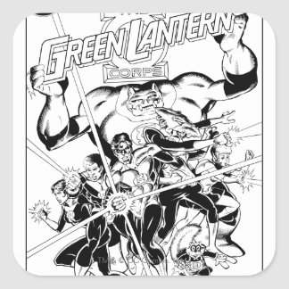 The Green Lantern Corps, Black and White Square Sticker