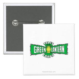 The Green Lantern Corps - Green Logo 15 Cm Square Badge