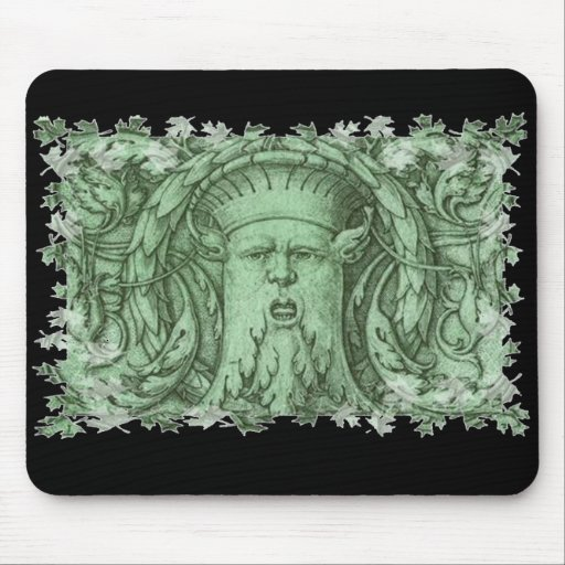 The Green Man Mouse Pads