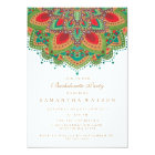 The Green Mandala Bachelorette Party Invitation