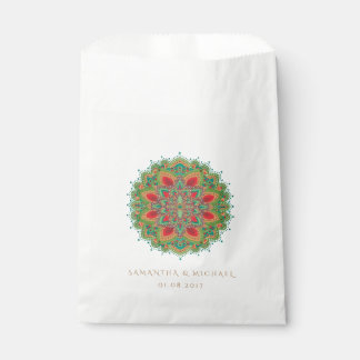 The Green Mandala Wedding Favor Bag Favour Bags