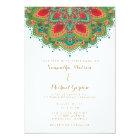 The Green Mandala Wedding Invitation Card