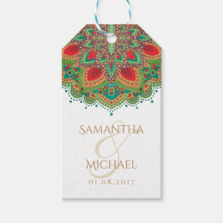The Green Mandala Wedding Thank You Favor Gift Tag