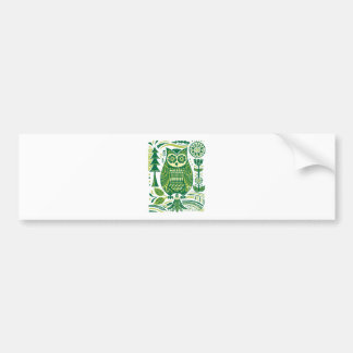The Green Owl Bumper Stickers