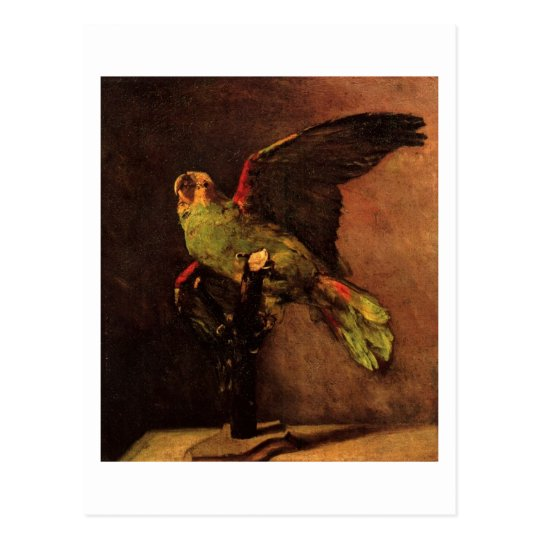 The Green Parrot (F14), Van Gogh Fine Art Postcard