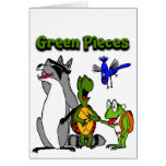 "The ""Green Pieces"" gang by Drew Aquilina Greeting Card"