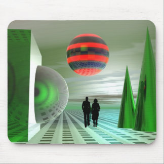 The green planet mouse pad