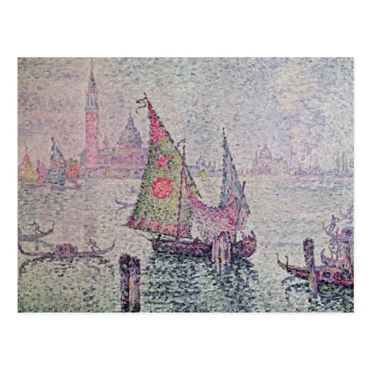 The Green Sail, Venice, 1904 Postcard