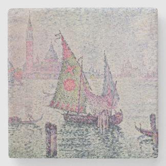 The Green Sail, Venice, 1904 Stone Coaster