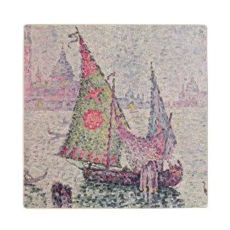 The Green Sail, Venice, 1904 Wood Coaster