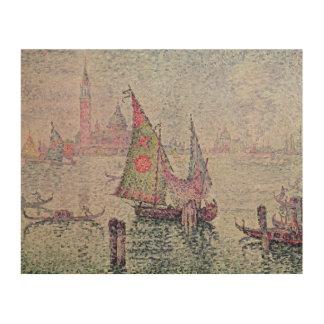 The Green Sail, Venice, 1904 Wood Prints