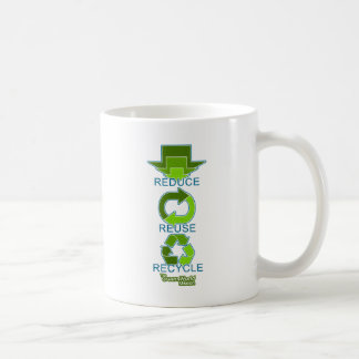 The Green World Mission - Reduce, Reuse, Recycle Basic White Mug
