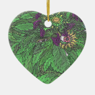 The Greenman TEO.png Ceramic Heart Decoration