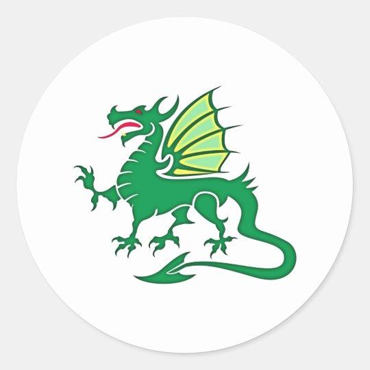 the Greens dragon green dragon Classic Round Sticker