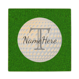 The Greens, Golf Coasters with Name and Monogram