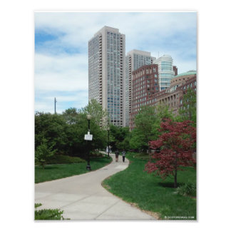 """The Greenway in Summer"" Boston, MA. 8.5x11 Print"