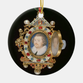 The Gresley Jewel, with miniature portraits of Sir Christmas Tree Ornament