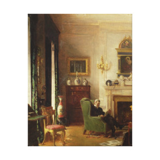 The Grey Drawing Room Canvas Print