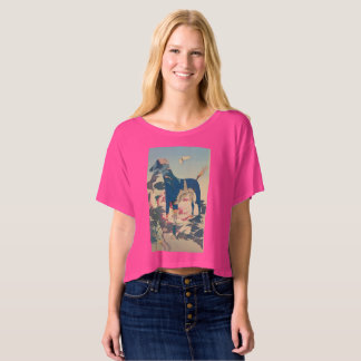 The Greyhound of the Peonies T-Shirt