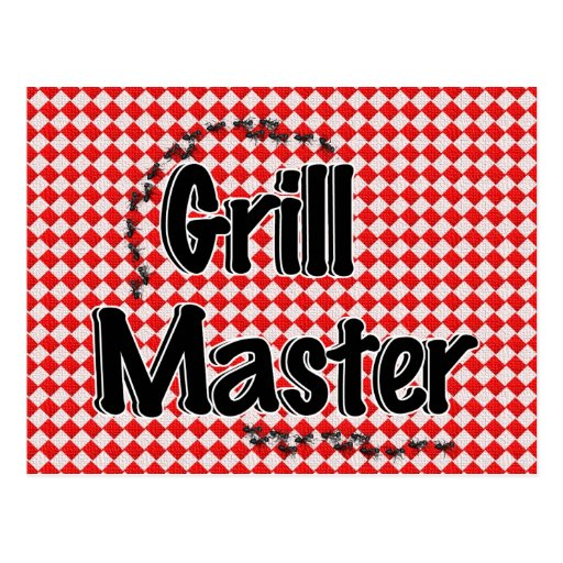 The Grill Master w/Picnic Table & Ants Postcards