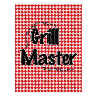 The Grill Master w Picnic Table Ants Postcards