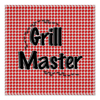 The Grill Master w Picnic Table Ants Print