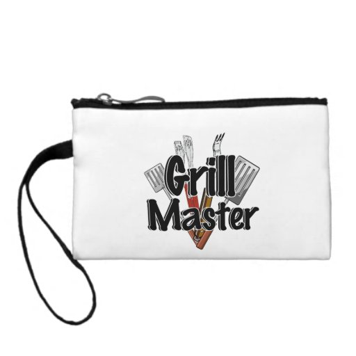 The Grill Master with BBQ Tools Change Purse