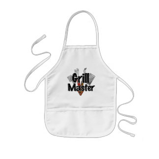The Grill Master with BBQ Tools Kids Apron