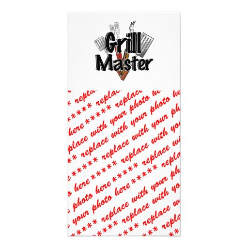 The Grill Master with BBQ Tools Picture Card