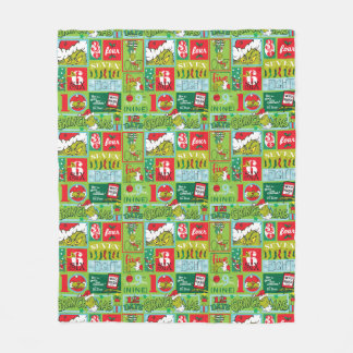 The Grinch | 12 Days of Grinchmas Pattern Fleece Blanket