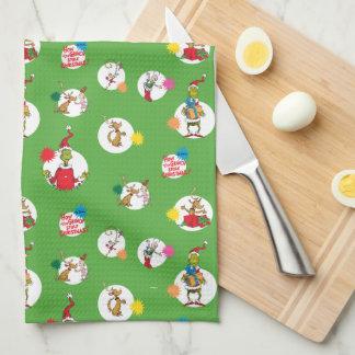 The Grinch | Christmas Dot Pattern Tea Towel