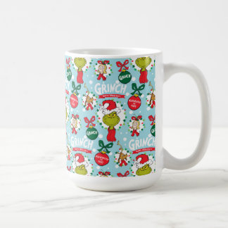 The Grinch | Happy Wholidays Pattern Coffee Mug