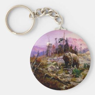 The Grizzly Basic Round Button Key Ring