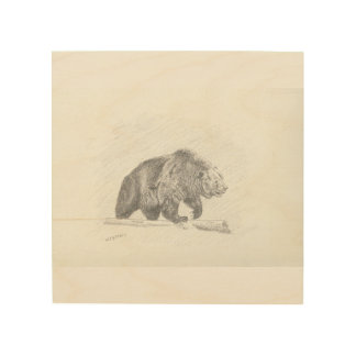 The Grizzly Wood Print