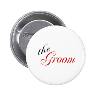 The Groom 6 Cm Round Badge