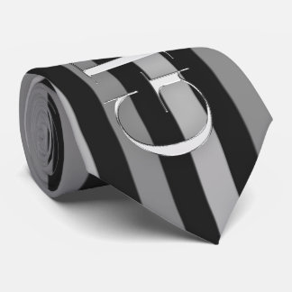the Groom Black and Silver Pinstripes Tie