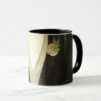"The Groom ""His"" (ivory) Wedding Mug"
