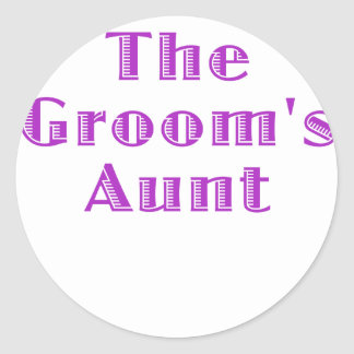 The Grooms Aunt Round Stickers